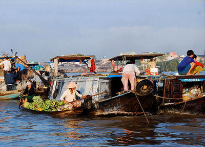 Float Martket Mekong Delta